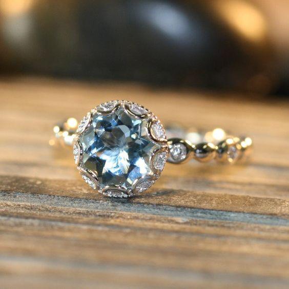 engagement aquamarine rings and unique on