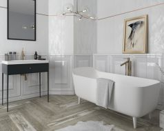Chevron Jasne Plytki Lazienkowe Ceramika Paradyz Chevron Bathroom House Tiles Modern Bathroom Design