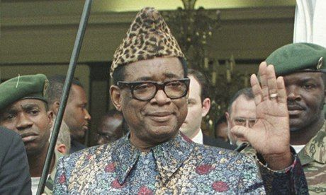 Mobutu Sese Seko pictured in Kinshasa a month before he was overthrown in 1997. Photograph: Jean-Marc Bouju/AP