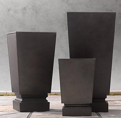 Weather-Resistant Sheet Metal Antique Copper Planters | RH