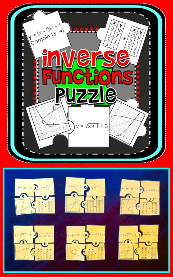Inverse Functions Puzzle Activities, Student and The o'jays