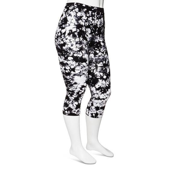 Modern Heritage Women's Plus-Size Tie Dye Seamless Capri Leggings