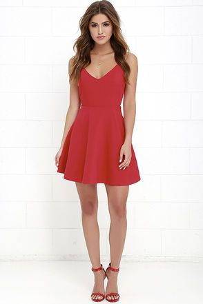 Dandelion Days Red Skater Dress at Lulus.com!