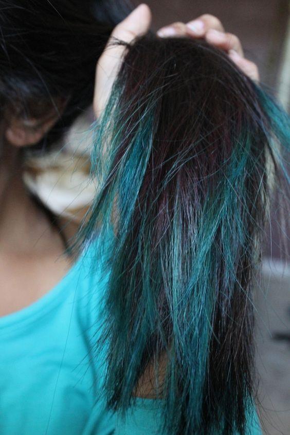 """""""Peacock"""" hair"""
