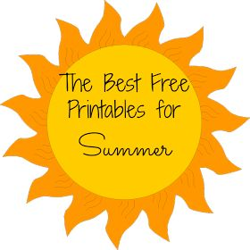 Some of the Best Things in Life are Mistakes: My Favorite Free Summer Printables