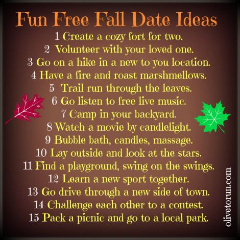 Ideas for dates