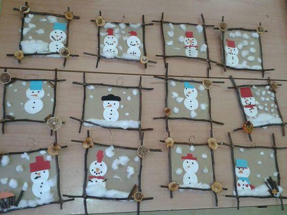 Bonhommes de neige hiver pinterest no l bricolage et no l - Bricolage de noel pinterest ...