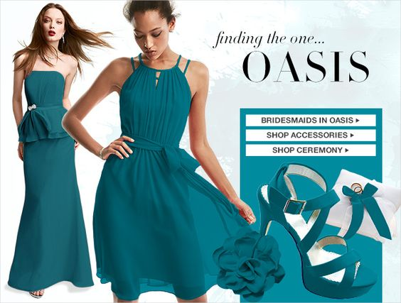 Oasis Color Palettes Bridesmaid Dresses by Color - David&39s Bridal ...