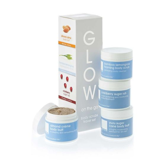 Lather Glow on the Go This holistic skincare line has an incredible story behind it, and the products are just as amazing. They smell fantastic, and are free of all the nasties. They're safe and luxurious, so you can feel good about indulging in these gems.