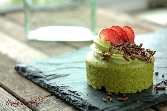 MIni Green Tea Cheesecake by namthip #Cheese_Cake #Green_Tea #namthip