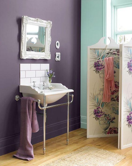 Accent colors ducks and purple colors on pinterest - Purple paint colors for bathrooms ...