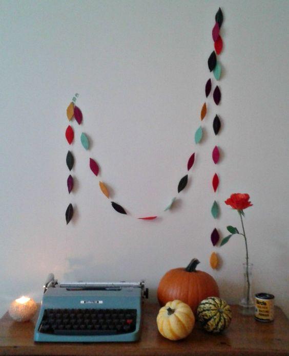 Autumn garland tutorial.
