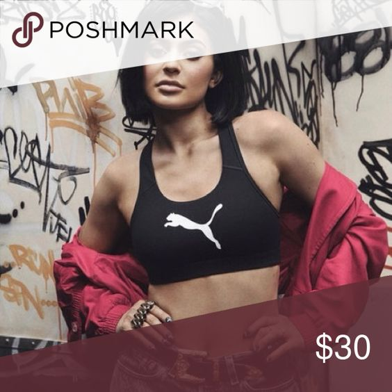 NWT Puma Cat Uplift Sports Bra Crop Top As seen on Kylie Jenner! Size M. Brand new with tags! Puma Tops Crop Tops
