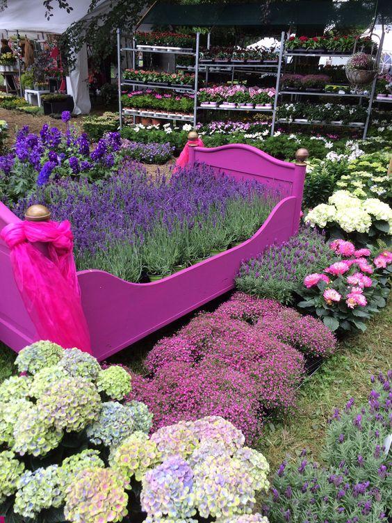 Gartenfestival in Halchter Ein Bett aus Blumen
