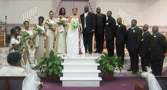 Black People Wedding Reception Dancing