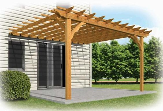 C mo hacer una p rgola de madera pergola casas - Construir una pergola de madera ...