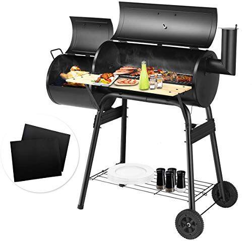 Buy Giantex Bbq Grill 2 Pcs Bbq Grill Mat Charcoal Barbecue Grill
