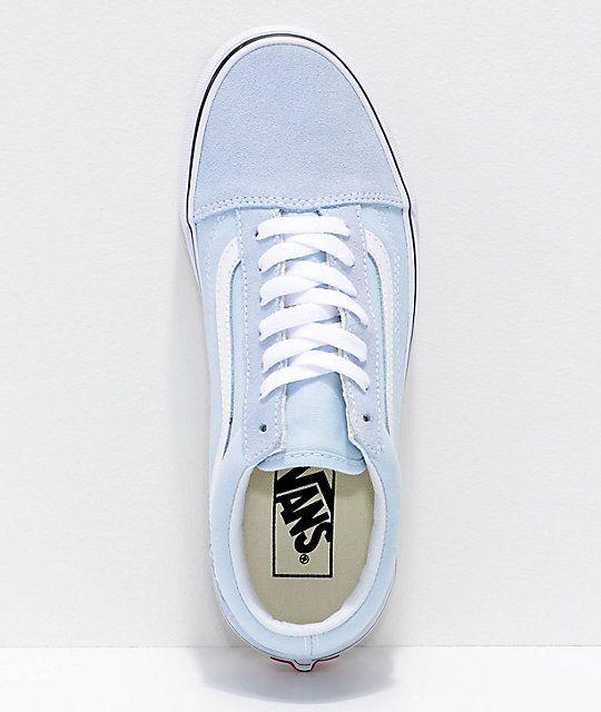 Vans Old Skool Baby Blue True White Shoes Zumiez Vans Old School Shoes Vans Shoes Fashion Purple Vans