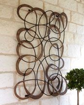 """Mingling Circles"" - Loving outdoor wall art!!"