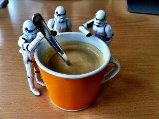 Welcome to the dark side.  Have a stellar day. May the latte' be with you. #StarWarsTuesday