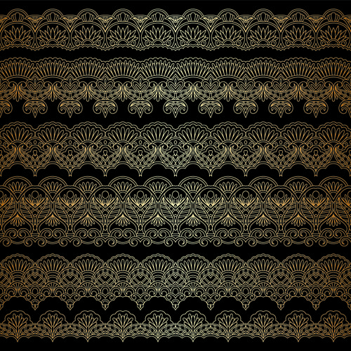 Lace decorative pattern vector background 08
