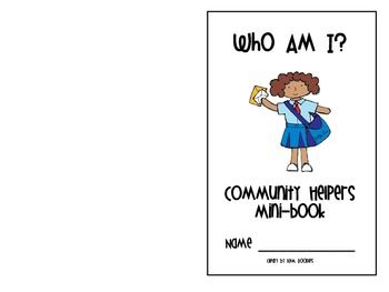 Coloring booklet and fill-in-the blankAnswers:doctor, firefighter, police officer, teacher...