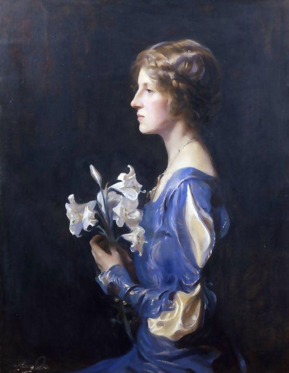 Philip Alexius de László (1869-1937)    —  Portrait of Lady Alastair Graham née Lady Meriel Olivia Bathurst,   1925    (840×1084)