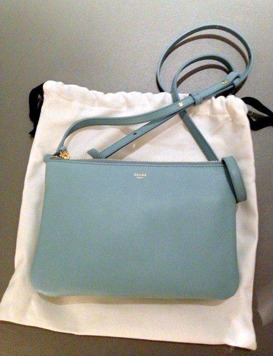 celine mini luggage tote beige - Celine Glacier Baby Blue Trio Bag | Sacs de mes r��ves | Pinterest ...