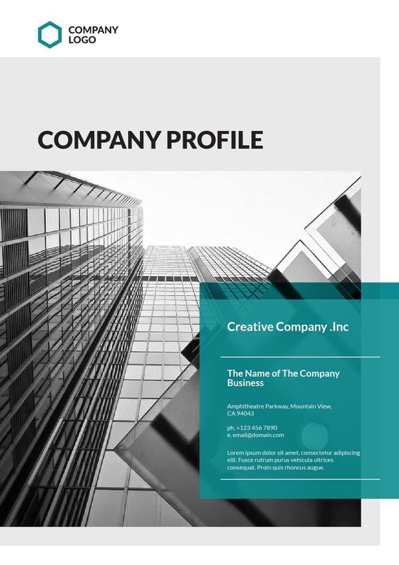 Company Profile Template Company profile, Corporate identity and - it company profile template