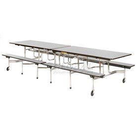 Virco 174 Mtb172912 Folding Roll A Way Table 144 Quot L Gray