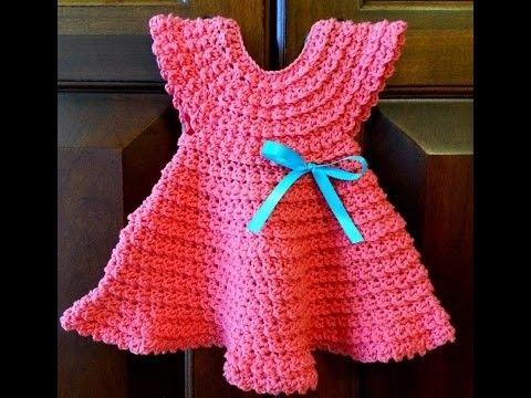 Crochet Tutorial - Crochet Baby Dress Patterns - Easy ...