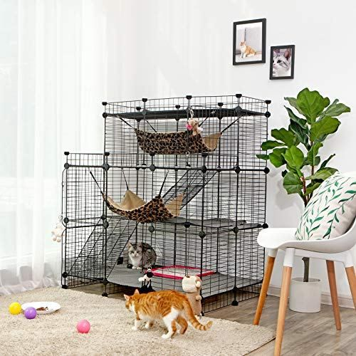 Songmics Multi Tier Cat Playpen Cat Cage Cat Playpen Cat Cages Cat Enclosure