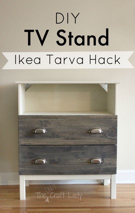 Aspelund Ikea Garderobekast ~ Ikea Tarva hack from the Crazy Craft Lady Full tutorial for making a