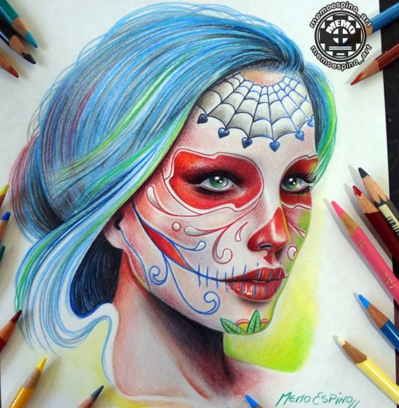 Marvelous Colored Pencils Drawings Works by Memo Espino