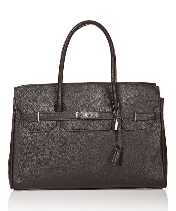 Loving this Nero Lock-Accent Pebble Leather Satchel on #zulily! #zulilyfinds