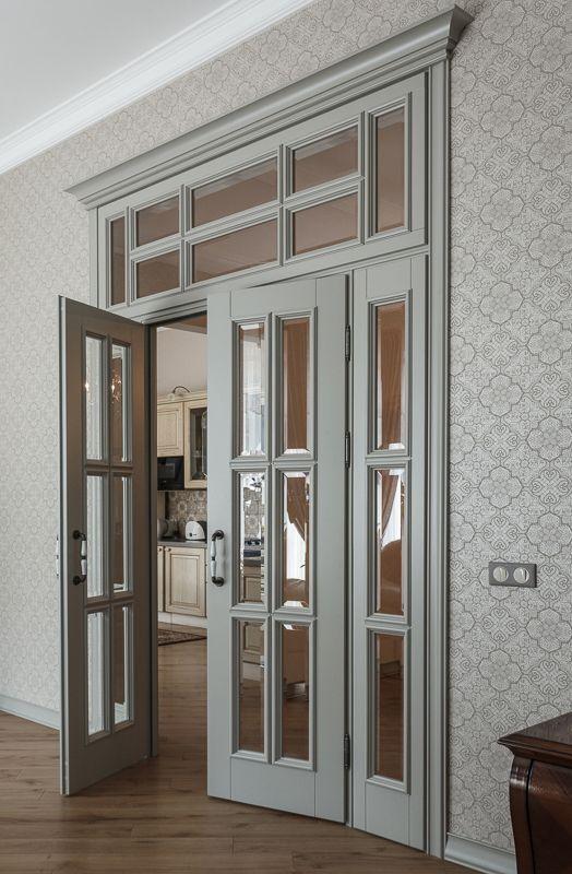 распашная двустворчатая дверь с фрамугой Doorsbarn Doors