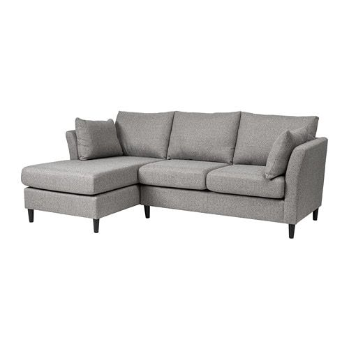 Bankeryd Grey 2 Seat Sofa W Chaise Longue Left Ikea Grey Chaise Sofa Sofa Bankeryd