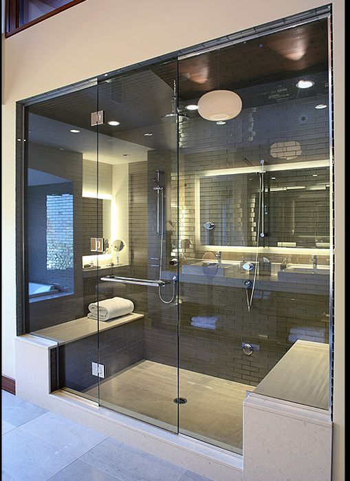 This is just a little bit awesome! Double shower