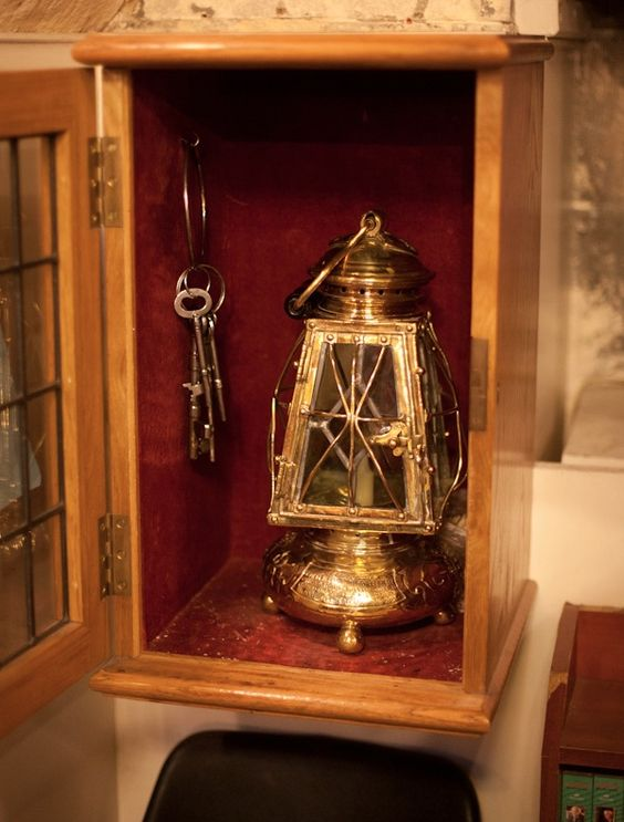 Keys and lantern used to lock the Tower of London each night.
