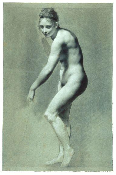 Pierre-Paul Prud'hon: Woman Standing with Broom ca. 1810    ifyouseekpeace.wordpress.com