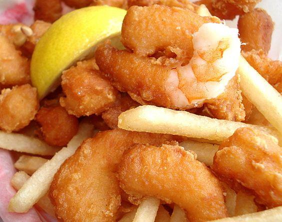 Recette - Panier de Crevettes panées et Frites