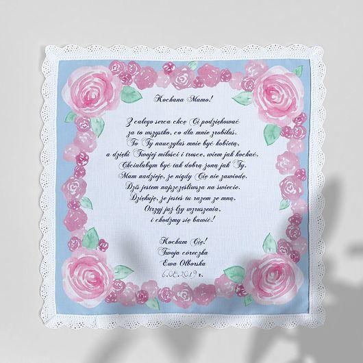 Malowane Roze Chusteczka Podziekowanie Pakamera Pl Home Decor Frame Decor