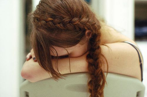 adorable inside-out side braid. so cute.