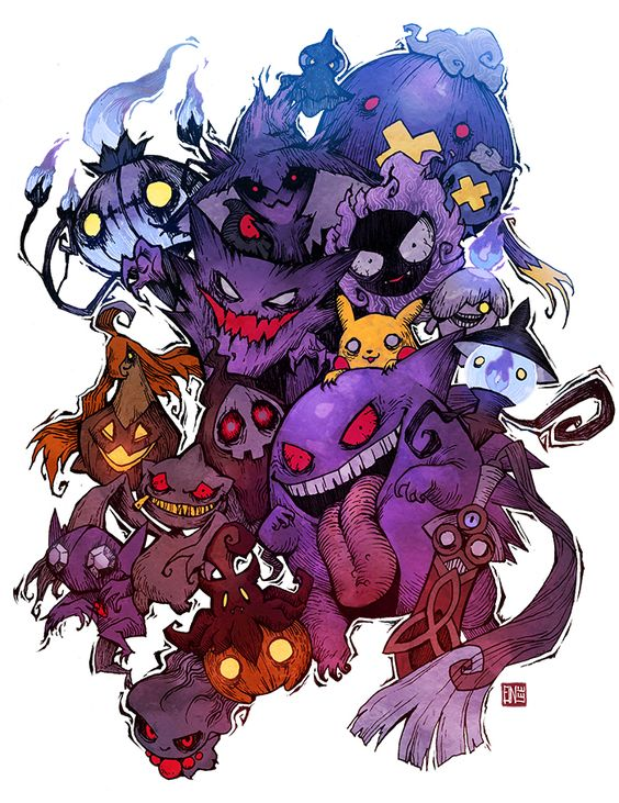 Ghost Type by einlee on DeviantArt <-- This is slightly disturbing but oh so amazing