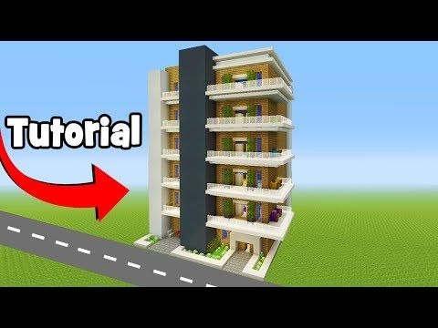 Minecraft Tutorial How To Make A Modern Apartment Building City Tutorial Youtube Minecraft Tutorial Minecraft Modern Minecraft Shops