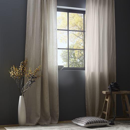 Belgian Flax Linen Curtain + Blackout Lining - Natural | design ...