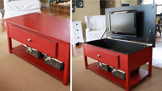 Ou Installer Une Tv Dans Le Salon Meuble Cache Tv Television Cachee Et Decoration Salon