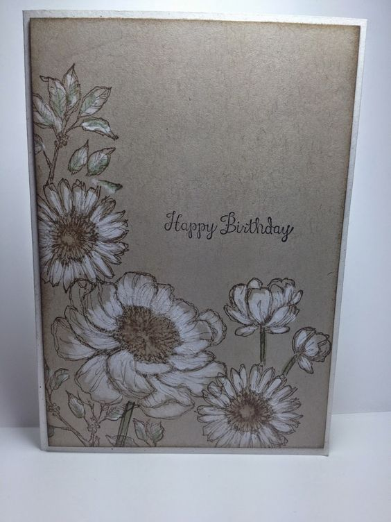Use a blender pen with white craft ink to create this soft, subtle effect.