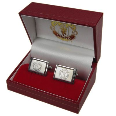 MANCHESTER UNITED FC Stainless Steel Cufflinks approx 20mm x 10mm. Official Licensed Man United Gift. FREE DELIVERY ON ALL OF OUR GIFTS
