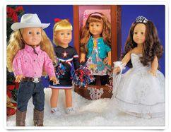 "H-E-B Texas Girls 18"" Dolls"
